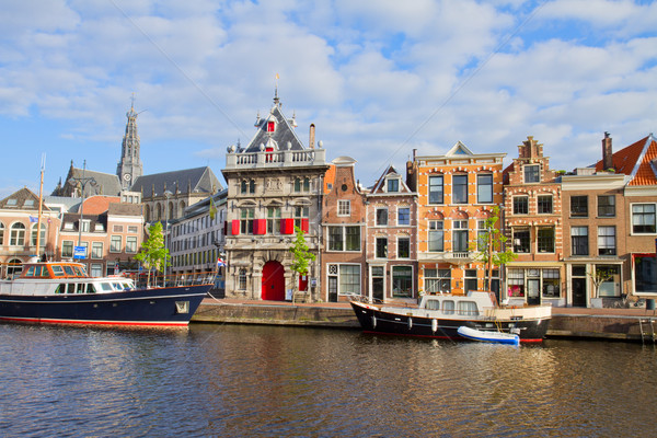 historical houses in old Haarlem, Holland Stock photo © neirfy