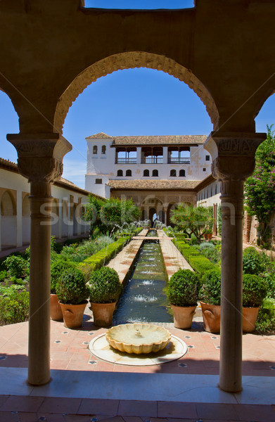 cortyard in Generalife , Granada, Spain Stock photo © neirfy