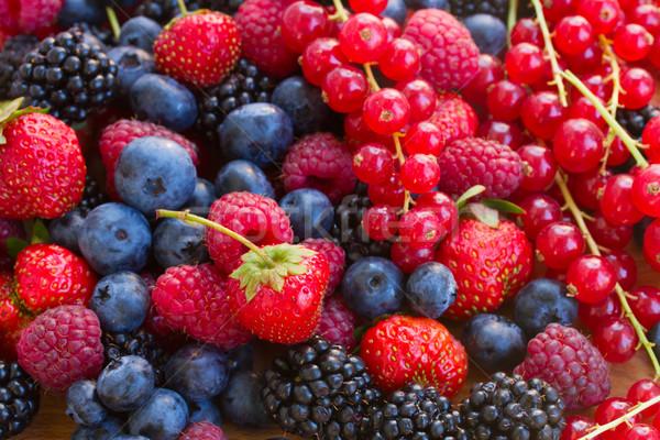 heap of berry mix Stock photo © neirfy