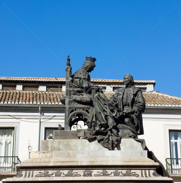 Isabela I with Christopher Columbus, Granada Stock photo © neirfy