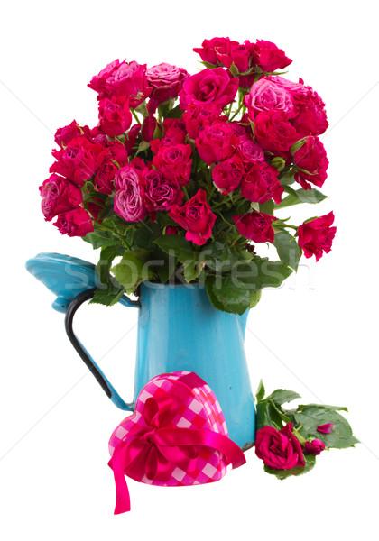 свежие розовато-лиловый роз синий банка Сток-фото © neirfy