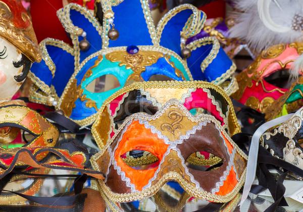 Veneziano máscaras tradicional carnaval Veneza Foto stock © neirfy