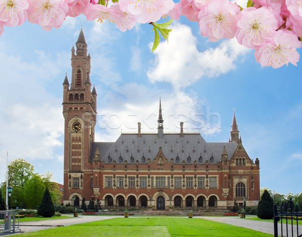 Peace Palace in The Hague, Holland Stock photo © neirfy