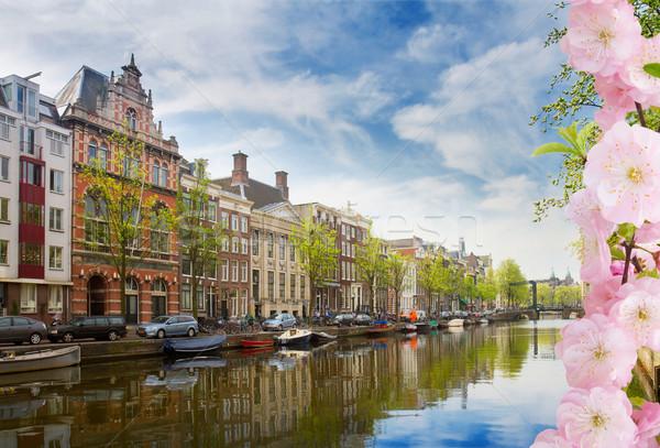 Сток-фото: канал · кольца · Амстердам · Солнечный · весны · день