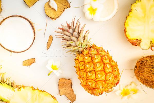 Сток-фото: лет · декораций · сцена · тропические · плодов