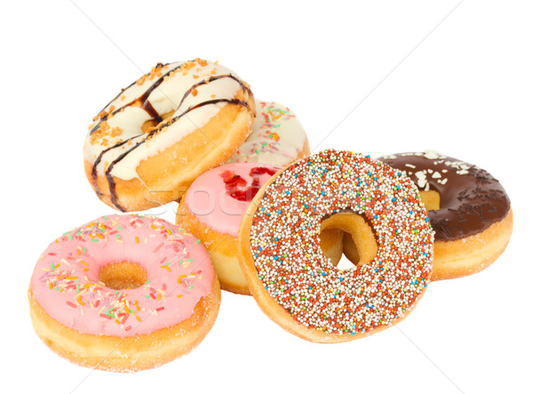 pile of fresh donuts Stock photo © neirfy