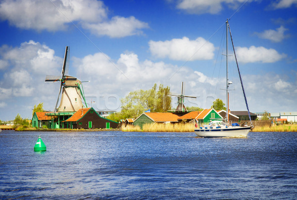 Nederlands rivier holland retro water zomer Stockfoto © neirfy