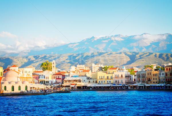 ベニスの ギリシャ 空 水 建物 ストックフォト © neirfy