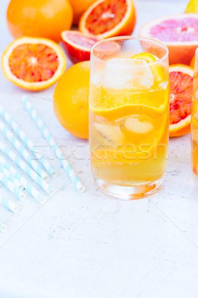 Summer citrus drinks Stock photo © neirfy