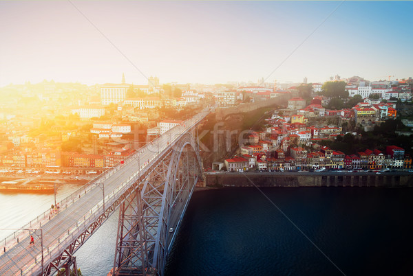 old town of Porto at sunset, Portugal Stock photo © neirfy