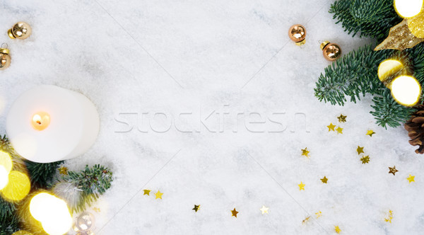 Christmas scene with snow Stock photo © neirfy
