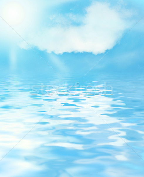 Sunny sky and blue water background Stock photo © Nejron