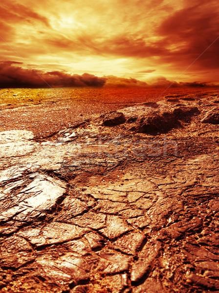 бурный небе пустыне облака аннотация фон Сток-фото © Nejron