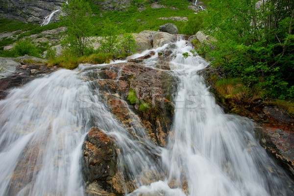 Fast cascade in norwegian mountains  Stock photo © Nejron
