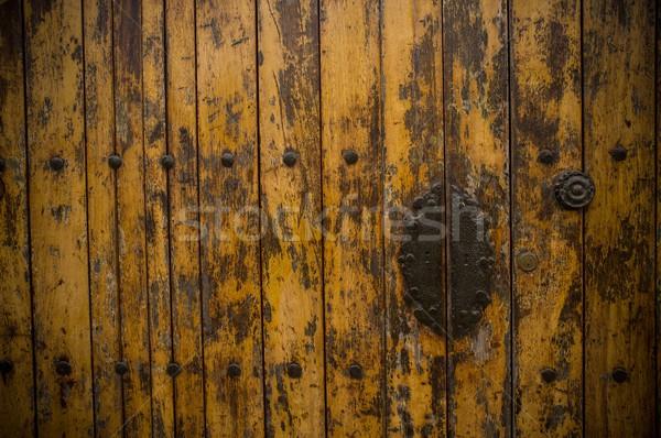 Old wooden door Stock photo © Nejron