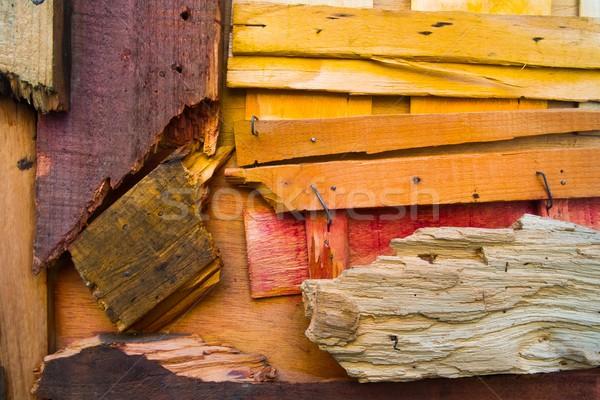 Inny kolorowy uszkodzony ściany Zdjęcia stock © Nejron