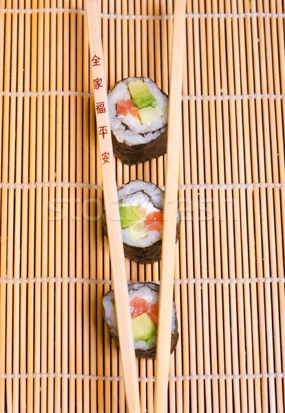 суши палочки для еды рыбы обеда азиатских Сток-фото © Nejron