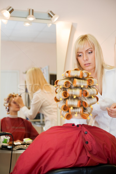 Young woman in beauty salon Stock photo © Nejron