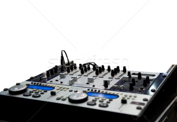 Mezclador aislado blanco fiesta club sonido Foto stock © Nejron