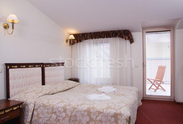 Luxo quarto de hotel varanda parede casa quarto Foto stock © Nejron
