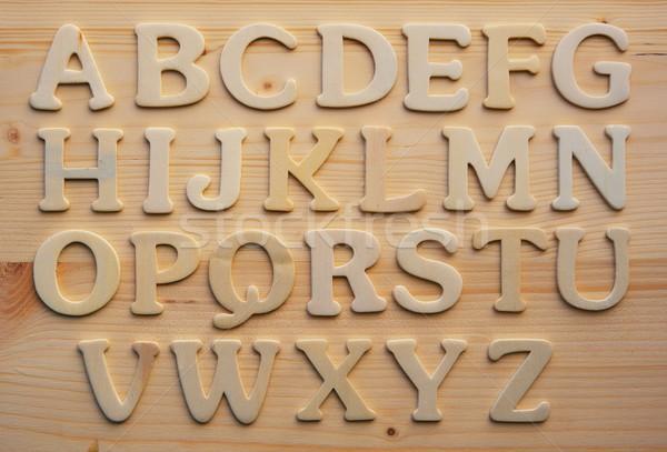 英語 アルファベット 木材 抽象的な デザイン 背景 ストックフォト © Nejron