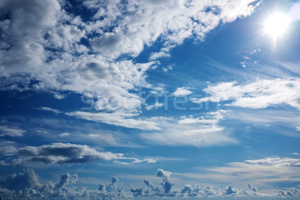 Belo nublado céu luz beleza espaço Foto stock © Nejron