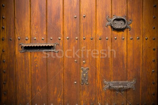 старые двери почтовый ящик древесины дизайна Сток-фото © Nejron