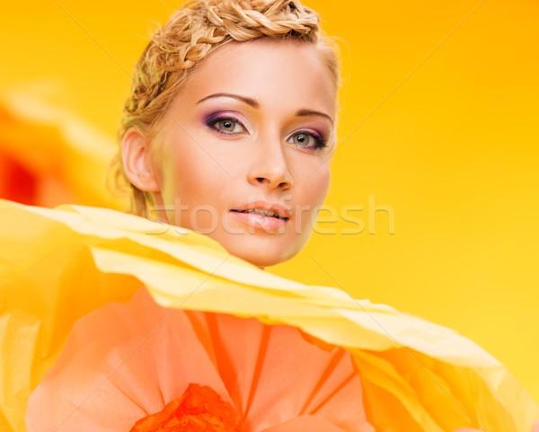 美しい 小さな ブロンド 女性 ビッグ ストックフォト © Nejron