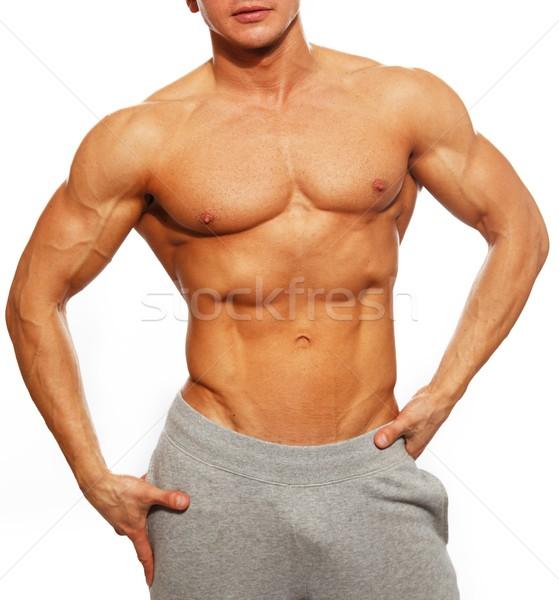 スポーティー 筋肉の 男 腹筋 スポーツ ストックフォト © Nejron
