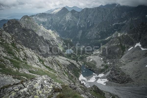 Mountain lakes in a High Tatras Stock photo © Nejron
