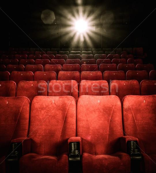 Boş rahat kırmızı sayılar sinema konser Stok fotoğraf © Nejron