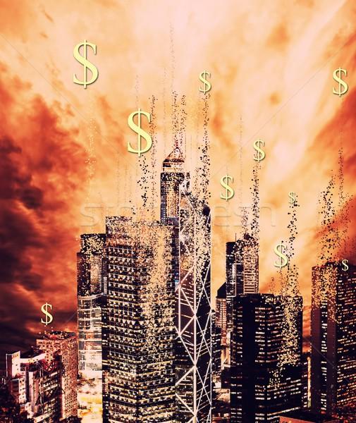 Financiële crisis business hemel wolken abstract wereld Stockfoto © Nejron