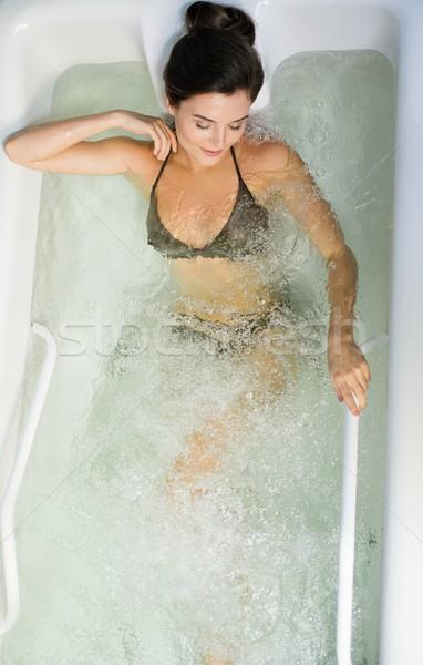 Woman having procedure in a  bathtub  Stock photo © Nejron