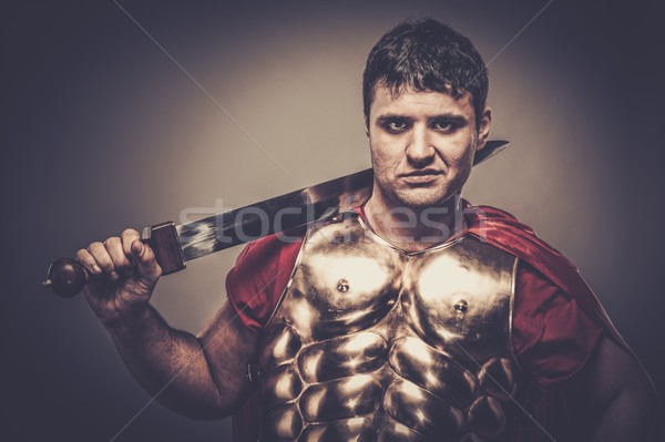 Legionary soldier with sword  Stock photo © Nejron