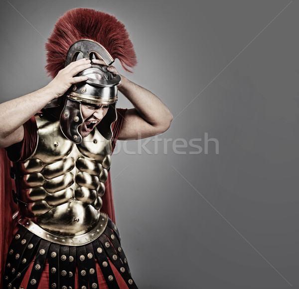 Screaming legionary soldier Stock photo © Nejron