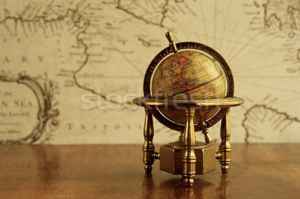 Globo mapa parede mar educação tabela Foto stock © Nejron