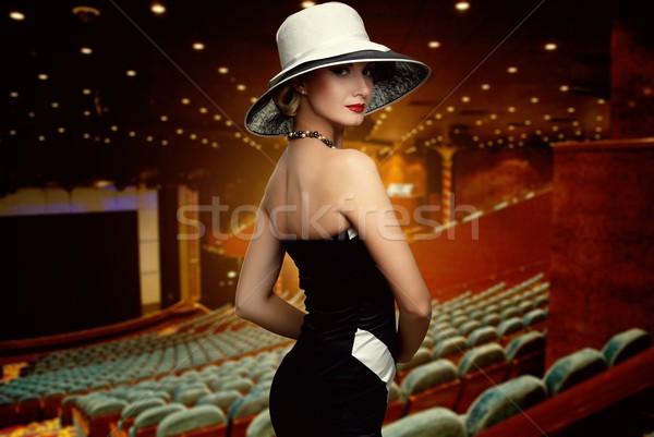 女性 白 帽子 劇場 インテリア ファッション ストックフォト © Nejron