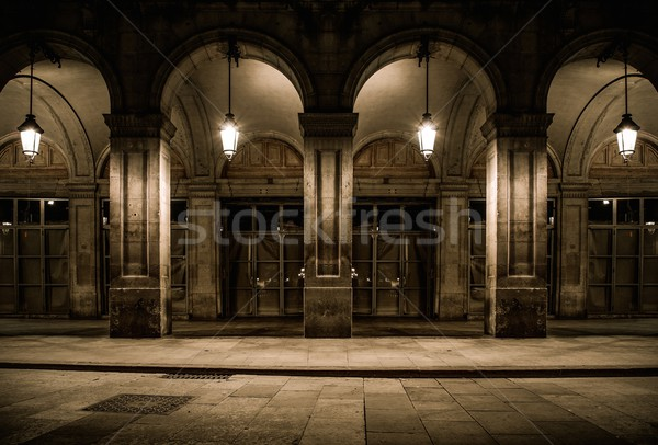 здании фасад колонн стены улице Сток-фото © Nejron