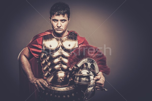 Roman legionary soldier in amour  Stock photo © Nejron