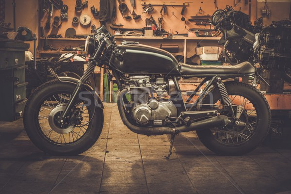 Vintage стиль мотоцикл Таможня гаража велосипедов Сток-фото © Nejron