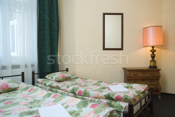 отель близнец комнату стены свет путешествия Сток-фото © Nejron