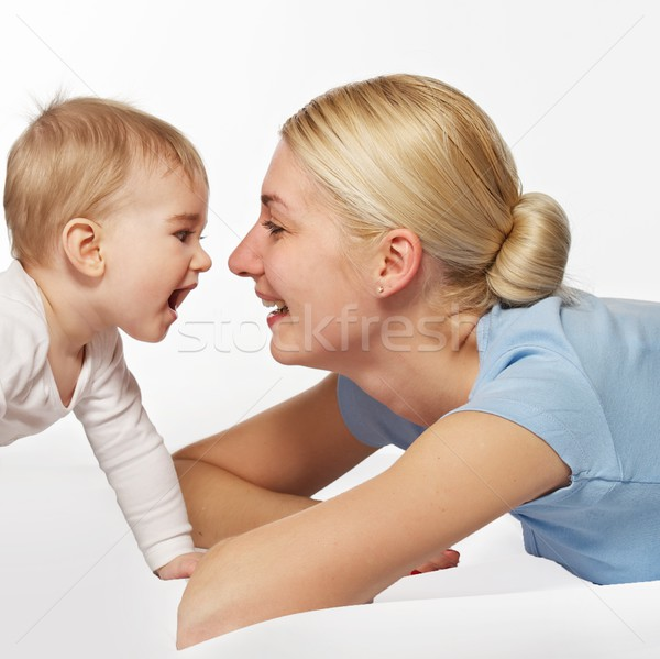Mother with her adorable baby Stock photo © Nejron