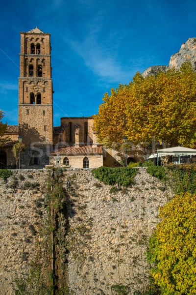 Old church in Moustiers-Sainte-Marie, France Stock photo © Nejron