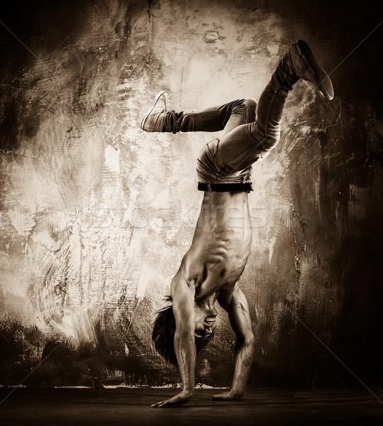 画像 若い男 裸 胴 アクロバティック 男 ストックフォト © Nejron