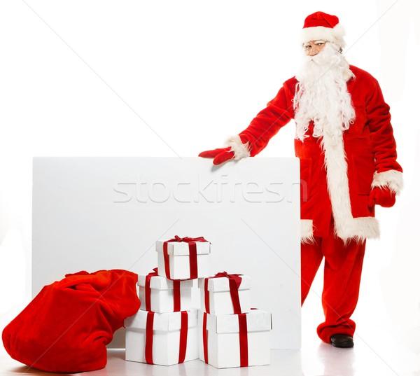 Photo stock: Sac · plein · coffrets · cadeaux · visage