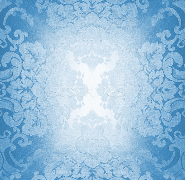 Luz azul tecido padrão textura abstrato natureza Foto stock © Nejron