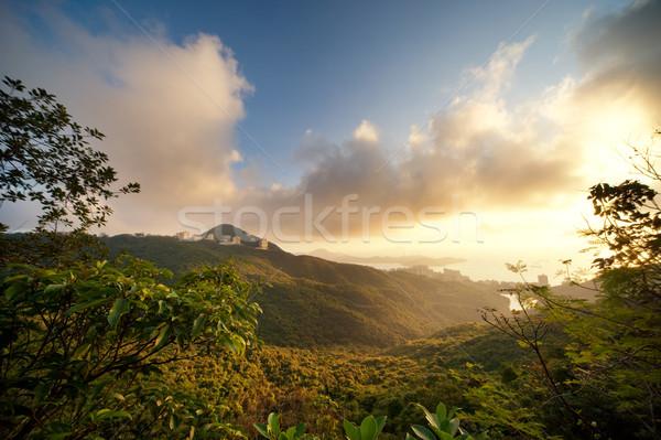 Bella scenico montagna cielo natura panorama Foto d'archivio © Nejron