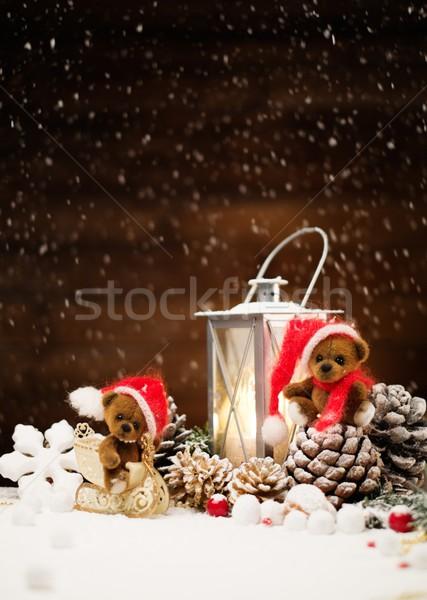 Photo stock: Faible · jouet · Noël · still · life · lumière