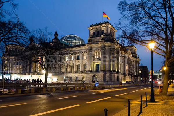 Gebouw Berlijn nacht Duitsland hemel weg Stockfoto © Nejron