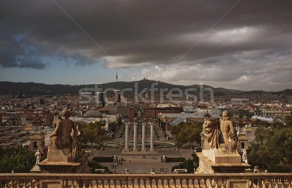 Placa De Espanya in Barcelona Stock photo © Nejron